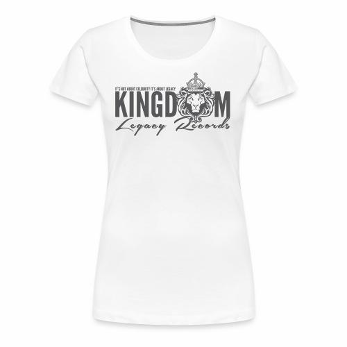 KINGDOM LEGACY RECORDS LOGO MERCHANDISE - Women's Premium T-Shirt