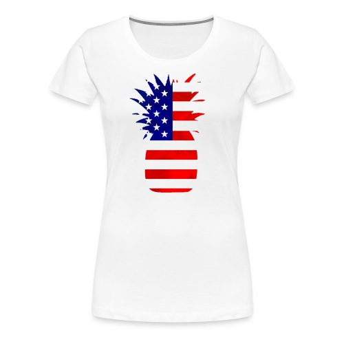 Pineapple United States Flag - Women's Premium T-Shirt