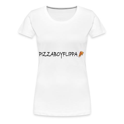 PizzaBoyFlippa - Black - Women's Premium T-Shirt