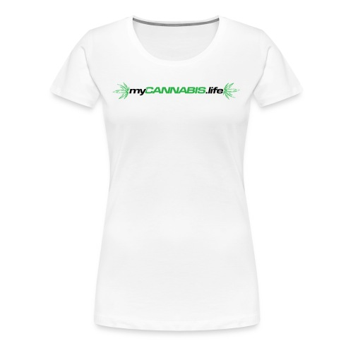 myCANNABIS.life Black Text - Women's Premium T-Shirt