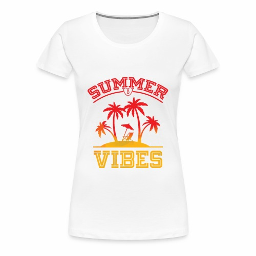Summer Vibes - Women's Premium T-Shirt