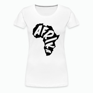 Black Afrika Continent with white word - Women's Premium T-Shirt