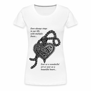 Love locket made by Indian traditional art - Women's Premium T-Shirt