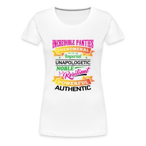 IncrediblePanties Multi Signature - Women's Premium T-Shirt