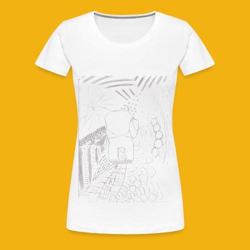 Messy Zentangle Boxing glove (TCOU) - Women's Premium T-Shirt