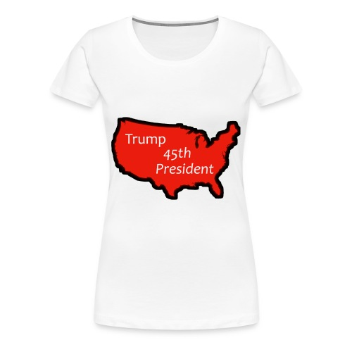 Trump 45th President (Bold Red USA) - Women's Premium T-Shirt