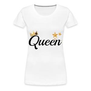 King & Queen Couples Matching Shirts - Women's Premium T-Shirt