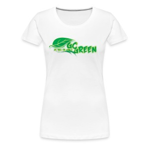 go green - Women's Premium T-Shirt