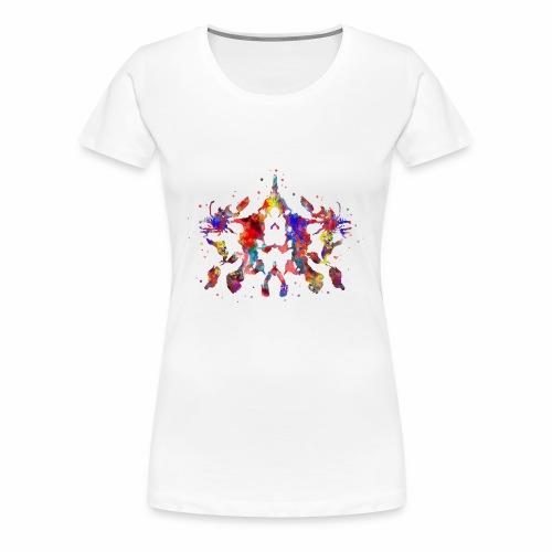 Rorschach, Rorschach inkblot test, card 10 - Women's Premium T-Shirt