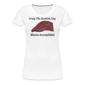 Red Tartan Hat - Women's Premium T-Shirt