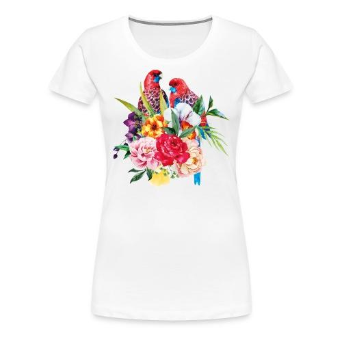 Luminous Sweet Tropical Toucan Watercolor Print - Women's Premium T-Shirt