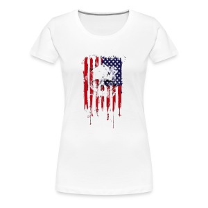 American Flag Skull 4th of July graphic Collection - Women's Premium T-Shirt