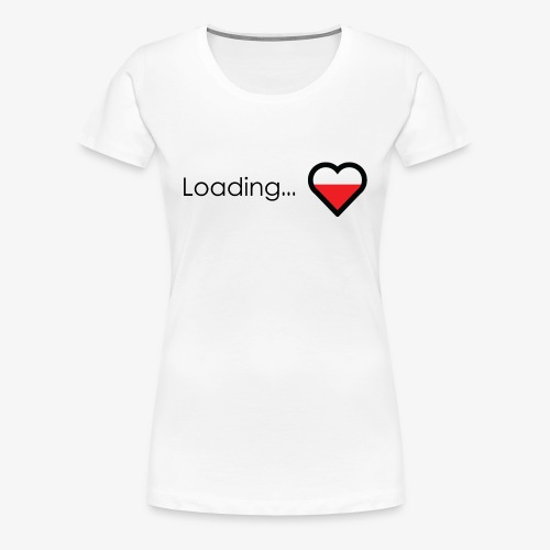 Loading heart - Women's Premium T-Shirt