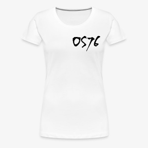 OS76 TYPE BLACK w OUTLINE - Women's Premium T-Shirt