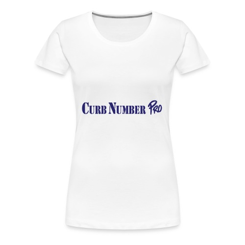 Blue Curb Number Pro Logo - Women's Premium T-Shirt