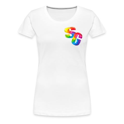 ShortyGamez Rainbow LOGO - Women's Premium T-Shirt