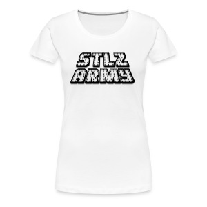 Stlz Army Logo (Black Edition) - Women's Premium T-Shirt