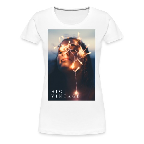 SicVintage Beauty in the Lignts - Women's Premium T-Shirt