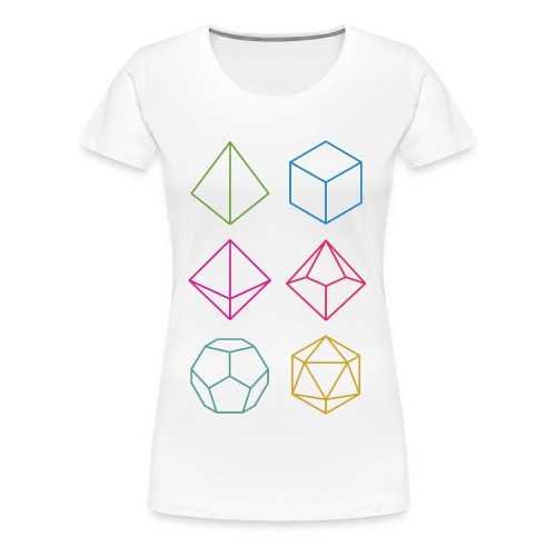 Minimal dnd (dungeons and dragons) dice - Women's Premium T-Shirt