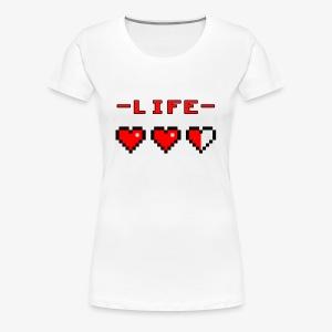 life bar retro games - Women's Premium T-Shirt