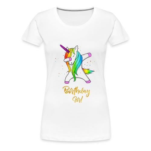 unicorn birthday girl - Women's Premium T-Shirt