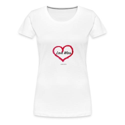 love wins - Women's Premium T-Shirt