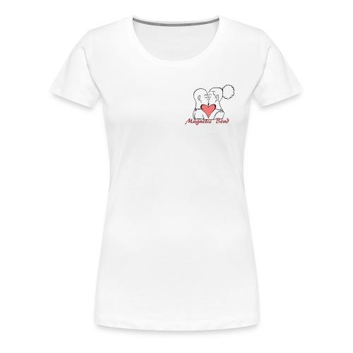Use this Kissing couple Magnetic Bond white hea - Women's Premium T-Shirt