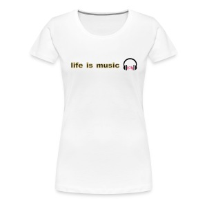 life is music design - Women's Premium T-Shirt