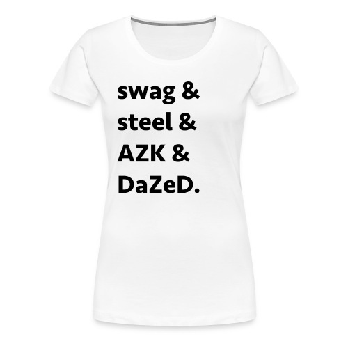 ssad black - Women's Premium T-Shirt