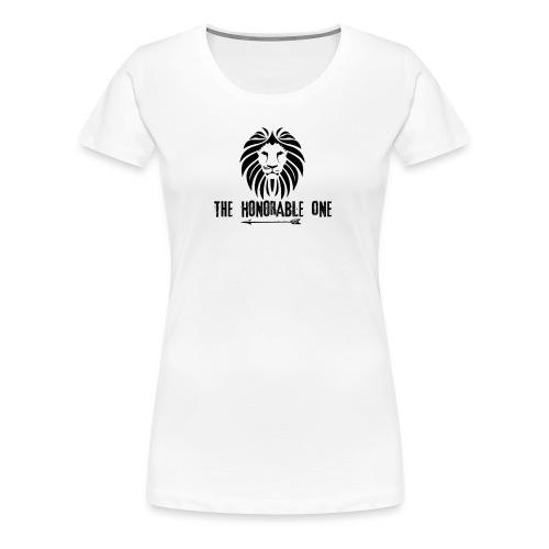 Lion: The Honorable One (Black) - Women's Premium T-Shirt