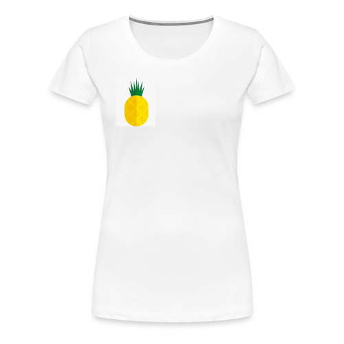 Pixel looking Pineapple - Women's Premium T-Shirt