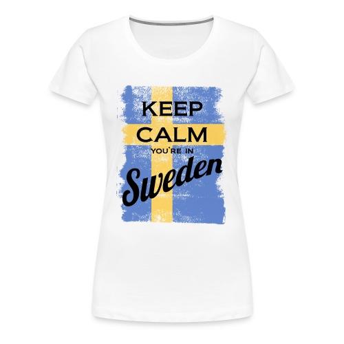 Keep Calm In Sweden - Women's Premium T-Shirt
