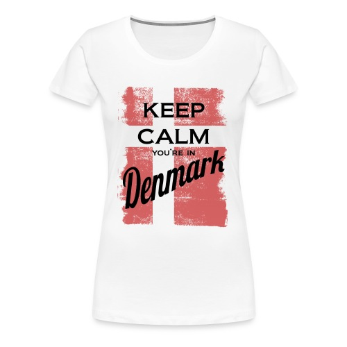 Keep Calm In Denmark - Women's Premium T-Shirt