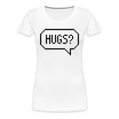 Hugs Pixelart Speech Bubble - Women's Premium T-Shirt
