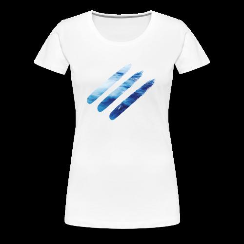 ocean paint stripe Tee - Women's Premium T-Shirt