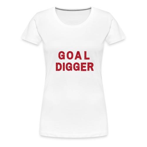 Red Glitter Goal Digger - Women's Premium T-Shirt