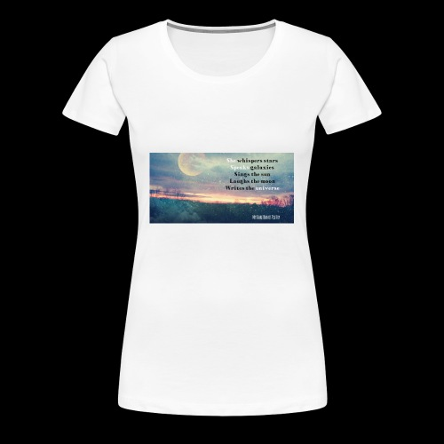 She speaks universe tank - Women's Premium T-Shirt