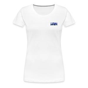 Blue Leon White Tee - Women's Premium T-Shirt