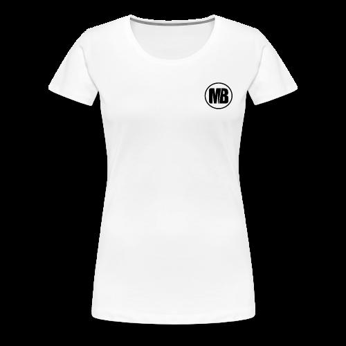 MB logo White - Women's Premium T-Shirt