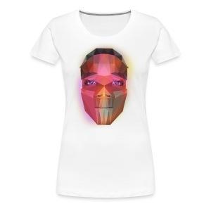 low poly face - Women's Premium T-Shirt
