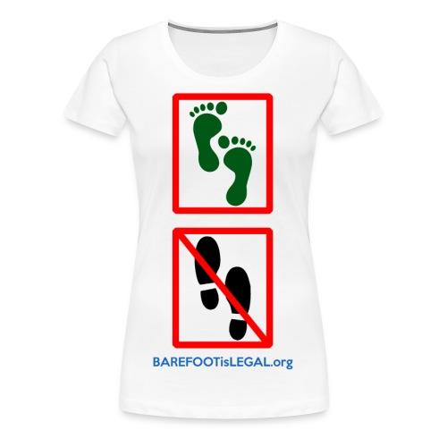 No shoes yes feet - Women's Premium T-Shirt