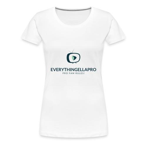 EverythingEllaPro Cool TV Video Logo - Women's Premium T-Shirt