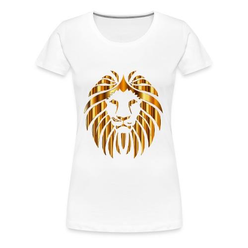 Gold Lion Design - Women's Premium T-Shirt