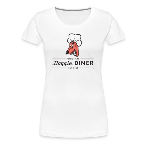 Doggie Diner Logo 1 with NO back color - Women's Premium T-Shirt