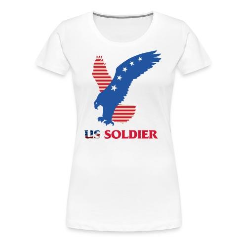 US Soldier Art Design - Women's Premium T-Shirt