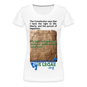 Constitution path to happiness - Women's Premium T-Shirt