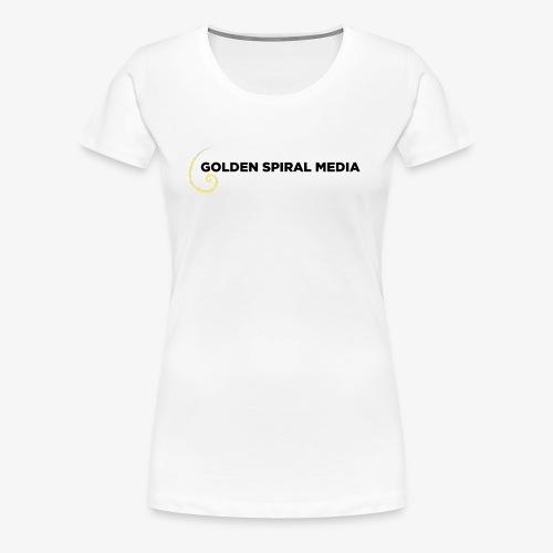 Golden Spiral Media Black Logo - Women's Premium T-Shirt