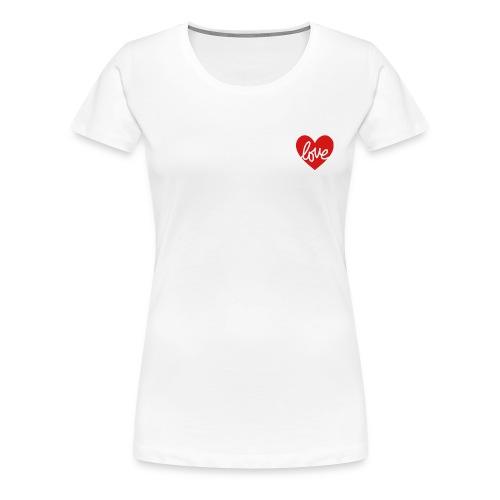 Love In My Heart - Women's Premium T-Shirt