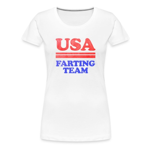 Funny 4th of July USA Farting Independence Day - Women's Premium T-Shirt
