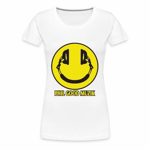 PHIL GOOD MUZIK HAPPY HEADPHONES - Women's Premium T-Shirt